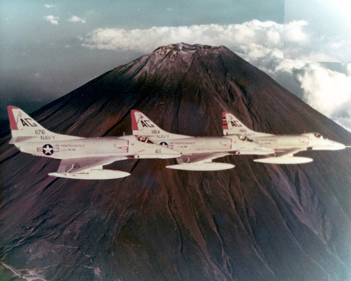 VA-86 Sidewinders A-4E Skyhawks in the Mediterranean, mid-'60s.
